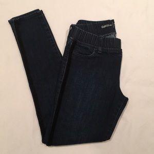 Girl's Gapkids 1969 legging Jean w/tuxedo stripe